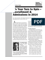 Marketing and Admissions 2014