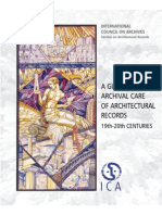 A GUIDE TO THE ARCHIVAL CARE OF ARCHITECTURAL RECORDS 19th-20th CENTURIES