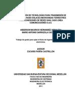 Integracion Tecnologias Transmision Sarrazola 2011