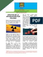 PACERIZU-ARTICULOS EFECTOS DE LA INTOXICACIÓN POR POLONIO