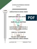 Algunas características de la construcción verbal española. Morfosintaxis 5o.cuatri..docx