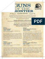 U.S. Marshal Museum Guns of the Frontier Lecture Series Flyer