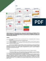 Calendario escolar 2007-08