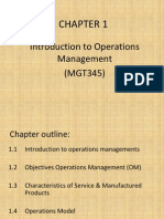 Ch 1-Intro to Operation management