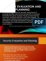 Security Evaluation and Planning in Specialized Allied Services