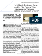 Fabrication of a Multimode Interference Device in a Low-loss Flat-fiber Platform Using Physical Micromachining Technique