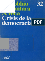 Bobbio -  Crisis de La Democracia
