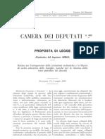Proposta Di Legge 953 Del 12 Maggio 2008 - Sulla Scuola Iniziativa Valentina Aprea
