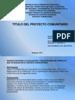 Taller i Proyecto Servicio Comunitario Unefa 2013.