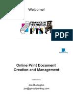 Global Printing Presentation to Franklin Technical Society