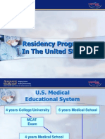 Residency programs in the USA