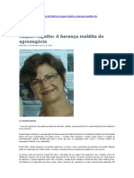 Raquel Rigotto A herança maldita do agronegócio