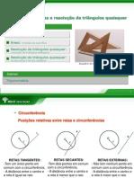 Abril -Matemática - Circunferências áreas e resolução de triângulos quaisquer - 1ª s