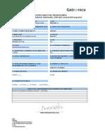 Formato actualizado del Registro Único de Proveedores