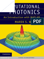 Computational Photonics, An Introduction With MATLAB