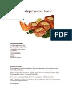 Espetadas de Peixe Com Bacon