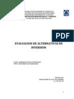 Evaluacion de Alternativas de Inversion