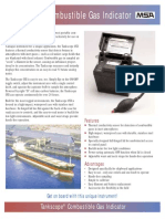 Tankscope Combustible Gas Indicator Datasheet