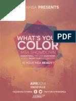 MSA Showdown 2014 - Registration Packet 2.0