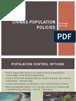 Chinas Population Policies