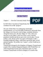 Memoirs of a Transylvanian Expatriot
