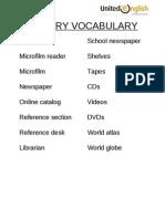 Library Vocabulary 21-36