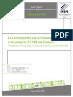 Mémoire ENTPE - TCSP en France