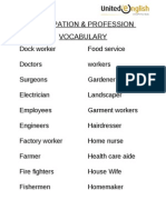 Occupation & Profession Vocabulary 41-60