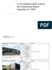 The District of Columbia Public Library Capital Construction Report September