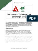 The Diabetic Exchange List