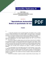 Concilio Vaticano Segundo - Constituciones y Decretos