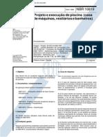 NBR 10819 - Projeto e Execução de Piscina - Casa de Máquinas, Vestiário e Banheiros