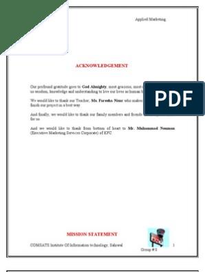 kfc operations manual pdf