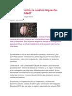 Cerebro Derecho vs Cerebro Izquierdo