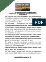 WarScenic - Catalogo de Cores - Maio 2012