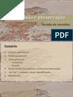 Patrimônio e preservação
