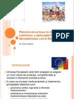 Dr. Paris Stelian Politica Europeana a Medicamentului