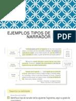 Ejemplos Tipos de Narrador