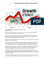 Malaysia's Growth Intact, GDP Boosted by Rising Exports and Investments