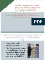 Effectiveness of a Comprehensive Hand Hygiene Program For