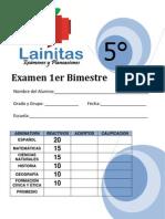Examen de Primer bimestre de quinto grado 2012-2013. Recursos educativos. Material para docentes. pdf