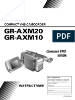 Manuel Instruction JVC Camcorder GR-AXM10