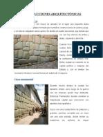 CONSTRUCCIONES ARQUITECTÓNICAS