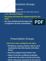 presentation groups