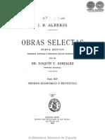 OBRAS SELECTAS - TOMO XIV - JUAN BAUTISTA ALBERDI - PORTALGUARANI