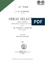 OBRAS SELECTAS - TOMO XVII - JUAN BAUTISTA ALBERDI - PORTALGUARANI