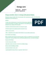 Energy core Product Description