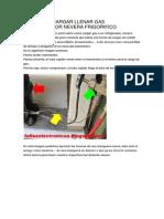 Acople de Cargar Llenar Gas Refrigerador Nevera Frigorifico