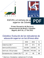 ASCUN y el sistema de educación superior de Colombia