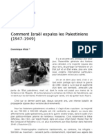 Comment Israel expulsa les Palestiniens 1947-1949